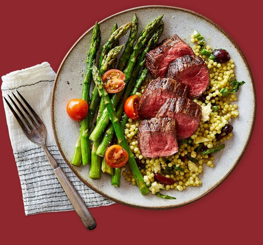 Delicious steak meal delivery kit